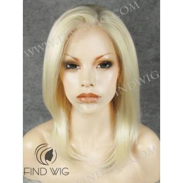 Kanekalon Wig. Straight Blonde Medium Long Wig