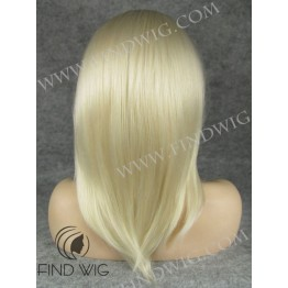 Kanekalon Wig. Straight Blonde Medium Long Wig
