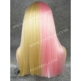 Drag Queen Wig Straight Long Hair, Pink/Blond. Wig Store Online