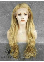 Lace Front Wig Wavy Long Gold Blonde Wig. New Style Wig