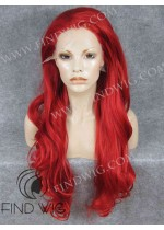 Drag Queen Lace Front Wig. Wavy Red Long Wig. Wigs On Line