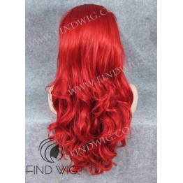 Drag Queen Wig. Wavy Bright Red Long Wig
