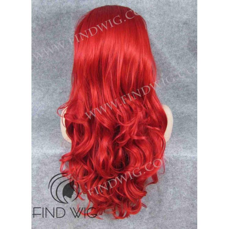 Drag Queen Wig. Wavy Bright Red Long Wig. Halloween Wigs eee8ef89bc3d