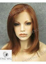Lace Front Wig Straight Chestnut Medium-Long Hair. New Style Wig