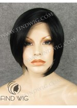 Lace Front Wig. Straight Black Short Hair. New Style Wig