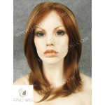 Lace Front Wig Straight Chestnut Medium-Long Hair
