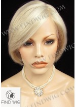 Lace Front Wig. Straight Blonde Short Hair. New Style Wig