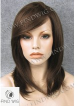 Lace Front Wig. Straight Brown Medium-Long Wig. New Style Wig