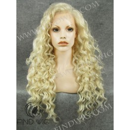 Drag Lace Front Wig. Curly Blonde Long Wig