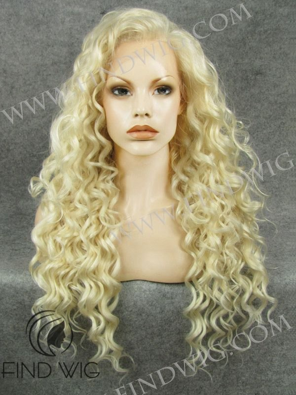 Long Blonde Curly 85