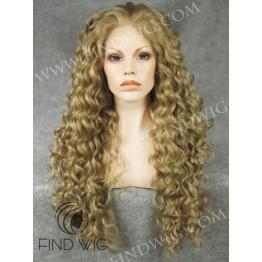 Curly Long Blonde Wig. Wigs Kanekalon