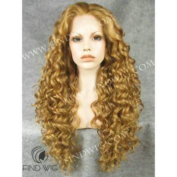 Kanekalon Wig. Curly Ginger Gold Long Wig
