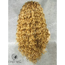 Kanekalon Wig. Curly Ginger Gold Long Wig