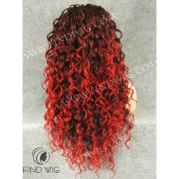 Drag Queen Wig. Curly Red Long Wig