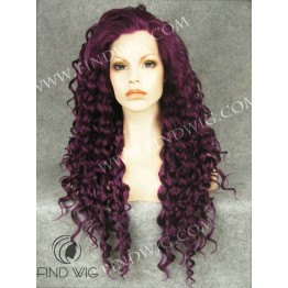 Drag Wig. Curly Purple Long Wig