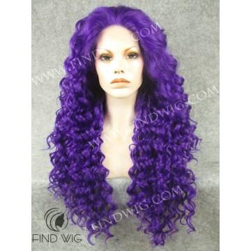 Drag Queen Wig. Curly Purple Long Wig