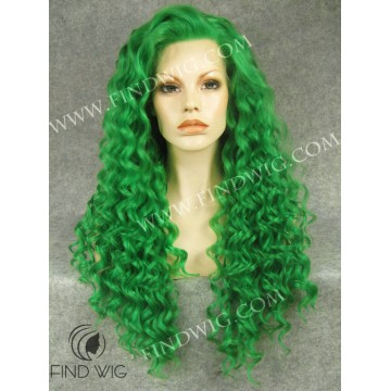 Curly Green Long Wig. Halloween & Party Wigs online