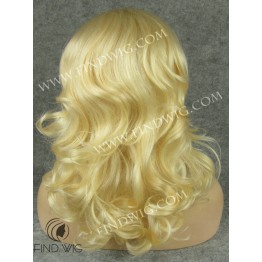 Wavy Blonde Medium Long Wig. Lace Front Wig