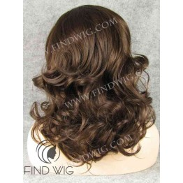 Lace Front Wig. Wavy Chestnut Medium-Long Wig