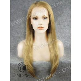 Lace Wig. Straight Straw Blonde Long Wig