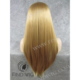 Lace Front Wig. Straight Straw Blonde Long Wig