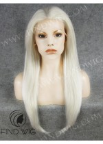Lace Front Wig. Straight Platinum Blonde Long Wig. New Style Wig