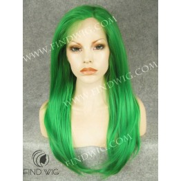 Drag Wig. Green Color Straight Long Wig
