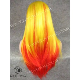 Drag Queen Wig Straight Long Hair, Sunrise Color