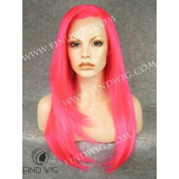 Drag Wig. Straight Long Fuchsia Color Wig