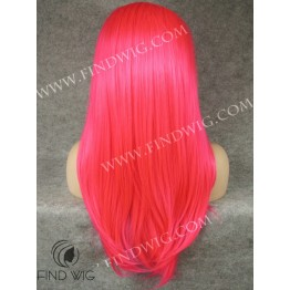 Drag Wig. Straight Long Fuchsia Color Wig