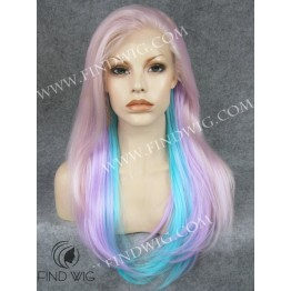 Straight Lavender Long Wig. Drag Wig For Stage and Performance