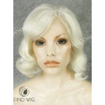 Lace Front Wig Wavy Blond Short Hair