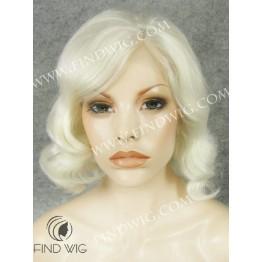 Kanekalon Wig. Wavy Platinum Blonde Short Wig