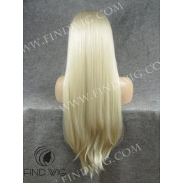 Lace Front Wig. Straight Blonde Extra Long Wig