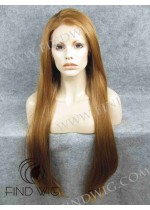 Lace Front Wig Straight Blonde Ginger Super-Long Wig. On Line Wig Store