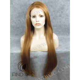 Lace Front Wig. Straight Ginger / Red Extra Long Wig