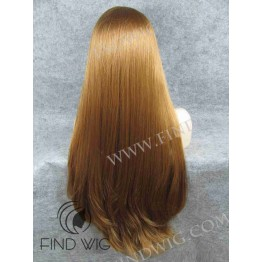 Lace Front Wig. Straight Ginger Red Super-Long Wig