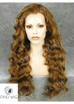 Lace Front Wig Curly Light Chestnut Long Wig. New Style Wig