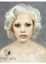 Lace Front Wig Curly Platinum Blonde Short Wig. New Style Wig