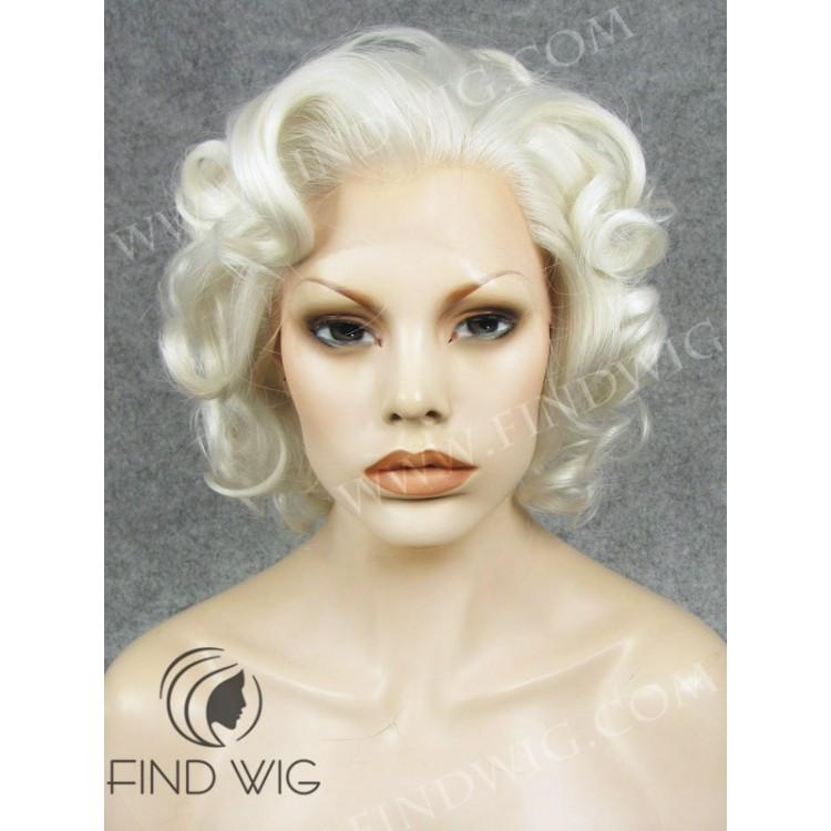 Marvelous Curly Platinum Blonde Short Wig Marilyn Monroe Style Wig Online Hairstyles For Women Draintrainus