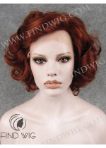 Lace Front Wig Curly Short Red /Ginger/ Wig. New Style Wig