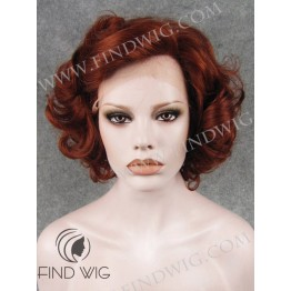 Kanekalon Wig. Curly Short Red Ginger Wig