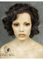 Lace Front Wig Curly Short Dark Brown Wig. New Style Wig