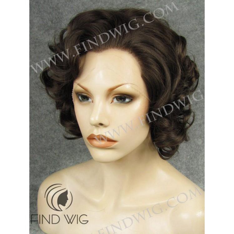 curly short dark brown wig new style wig online wig store