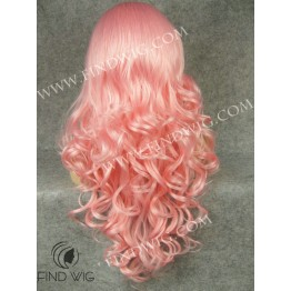 Drag Wig. Pink Wavy Long Wig
