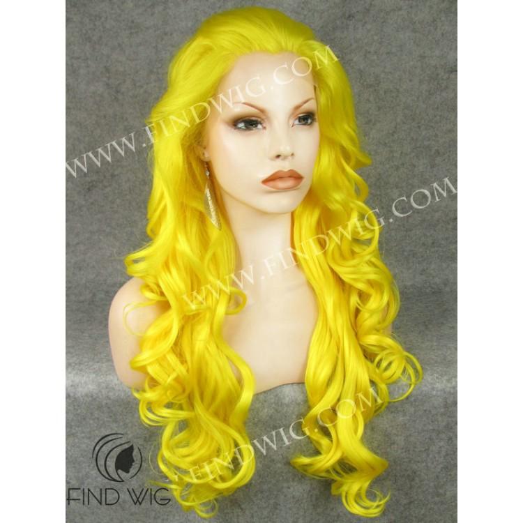 Yellow Long Wig 69