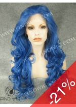 Drag Lace Front Wig Wavy Light Blue Long Wig. New Style Wig