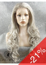 Lace Front Wig Wavy Blonde Ash-Grey Long Hair. New Style Wig