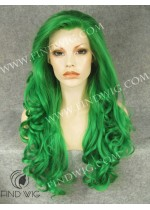 Drag Lace Front Wig Wavy Green Long Wig. New Style Wig