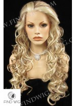 Lace Front Wig Wavy Blonde Mixed Long Hair. New Style Wig